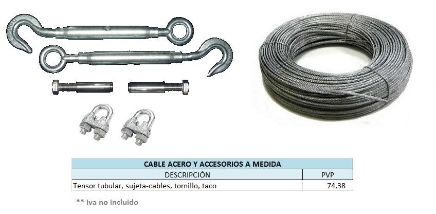 Reparaci n de cobertor for Tensor cable acero