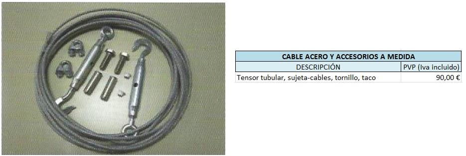 Productos y accesorios for Cable de acero precio